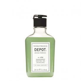 DEPOT NO. 406 TRANSPARENT SHAVING GEL .brushless. 100 ML