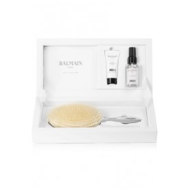 BALMAIN LARGE BOAR HAIR SILVER SPA BRUSH
