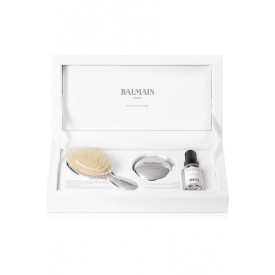 BALMAIN LUXURY SILVER BRUSH AND MIRROR