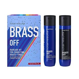 matrix total results brass off hair care kit