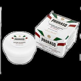 PRORASO SHAVING SOAP JAR GREEN TEA & OATMEAL SENSITIVE SKIN 150 ML