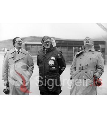 Kristján, Ólafur og Einar Valur.