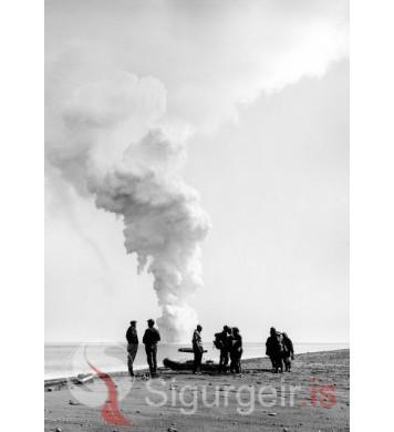 Eldgosið í Surtsey.