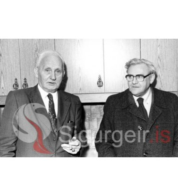 Guðlaugur Gíslason og Matthías Bjarnason.
