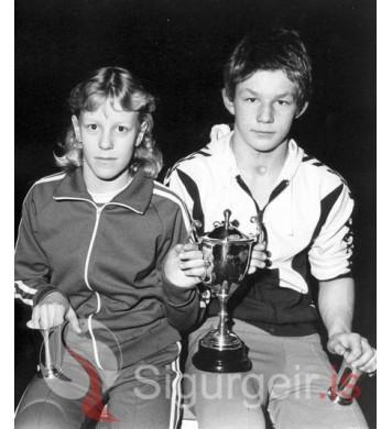 Sunddrottning og sundkóngur Vestmannaeyja 1980.