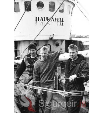 Skipverjar á Haukafelli.