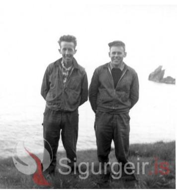 Helgi Magnússon og Eddi Martinss.