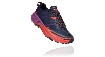 HOKA Speedgoat 4 Kvenna Outer Space / Hot Coral