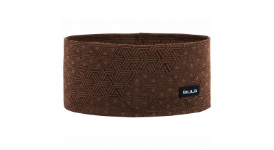 Bula printed 100% merino wool headband Walnut
