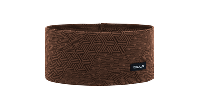 Bula printed 100% merino wool headband Walnut