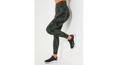 Casall Iconic Printed Tights Calming Green