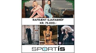 Rafrænt Gjafabréf Kr. 75.000.-