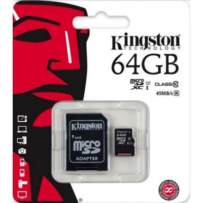 Kingston 64GB SDHC Micro Class10