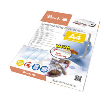 Peach laminating film A4 125mic PP580-02, films (glossy, 100 pieces)4