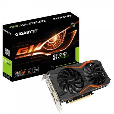 GIGABYTE GeForce GTX 1050 Ti WindForce OC 4G, Skjákort 3x HDMI, DisplayPort, DVI-D