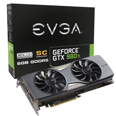 EVGA GeForce GTX 980 Ti Superclocked ACX 2.0+, graphics card