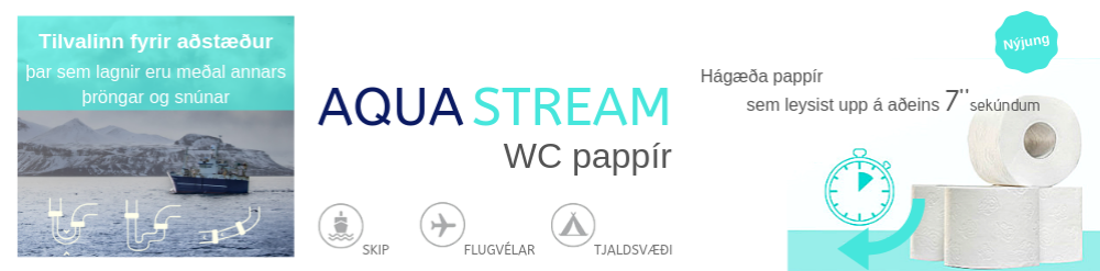Aqua stream wc - pappír
