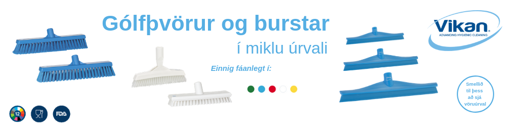 Vikan burstar og þvörur