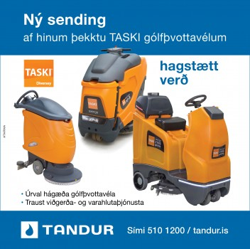TASKI gólfþvottavélar - Ný sending - Hagstætt verð