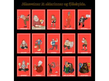 Jólasveinar 21 aldarinnar - 15 póstkort