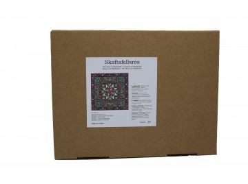 Útsaumur - Skaftafellsrós 23x23 cm. strammi