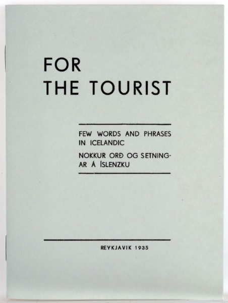 For the tourist - Orðabók frá 1935