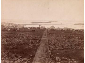 Reykjavík from School cairn hill, 1877