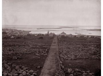 Reykjavik Skólavörðuholt hill,1877
