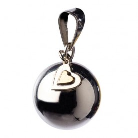 Bola Silver with hearts charm
