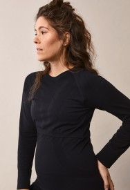 Boob Sports top l/s black - svartur æfingabolur