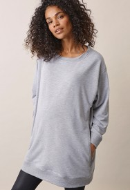Boob BFF sweatshirt grey melange - ljósgrá peysa