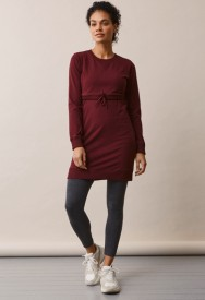 Boob Warmer dress burgundy - purpurarauður kjóll