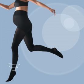 Cache coeur Activ' soft tights 70 den black