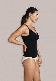 Carriwell seamless nursing top with shapewear black - brjóstagjafaaðhaldshlýrabolur
