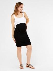 Mamalicious Luna jersey pintuc skirt black - svart pils