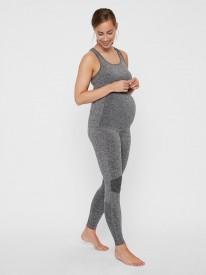 Mamalicious Fit Active tights medium grey melange - gráar æfingabuxur