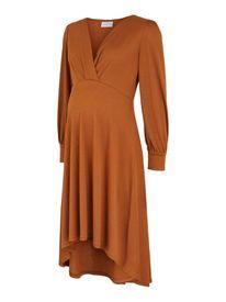 Mamalicious Abella Tess jersey UK dress 2F - missíður kjóll ginger
