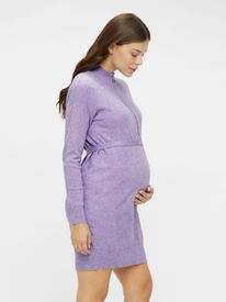 Mamalicious Nelly l/s knit dress 2F - prjónakjóll