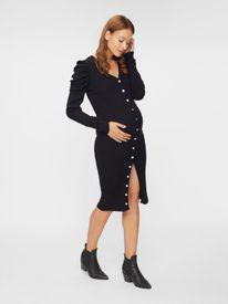 Mamalicious Marthe Lia knit l/s UK dress 2F - kjóll með tölum