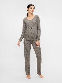 Mamalicious Chill Star Lia l/s jersey pyjamas 2F - náttfatasett