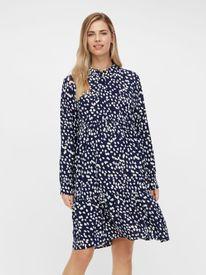 Mamalicious Glomma l/s woven shirt dress - skyrtukjóll