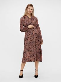 Mamalicious Dee l/s woven shirt dress - skyrtukjóll