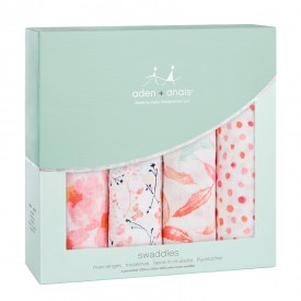 Aden&Anais petal blooms 4-pack classic swaddles