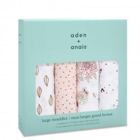 aden+anais dahlias 4-pack classic swaddles