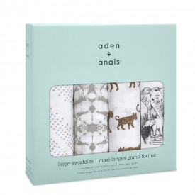aden+anais hear me roar 4-pack classic swaddles
