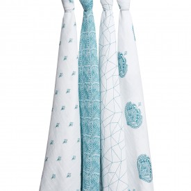 aden+anais paisley teal 1 classic swaddle
