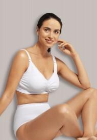 Carriwell maternity and nursing bra with padded carri-gel support white - hvítur gelwirehaldari