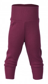 Engel baby-pants long with waistband orchid - purpuralitaðar buxur GOTS