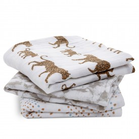 aden+anais hear me roar 3-pack classic musy muslin squares