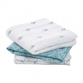 aden+anais paisley teal 1 classic muslin square